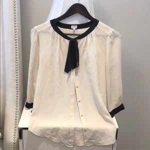 Babaton tie collar blouse